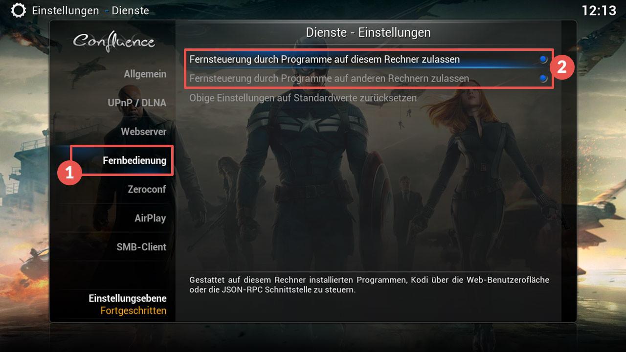 openelec_hyperion_menu_deaktivieren