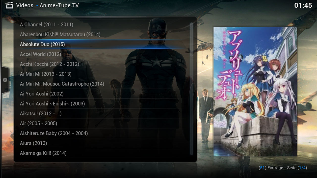 Anime Tube Tv Kodi Addon Screen