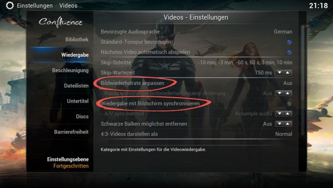 screenshot_kodi_wiedergabe_bildwiederholrate