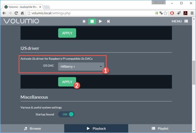 volumio_raspberry_hifiberry_aktivieren